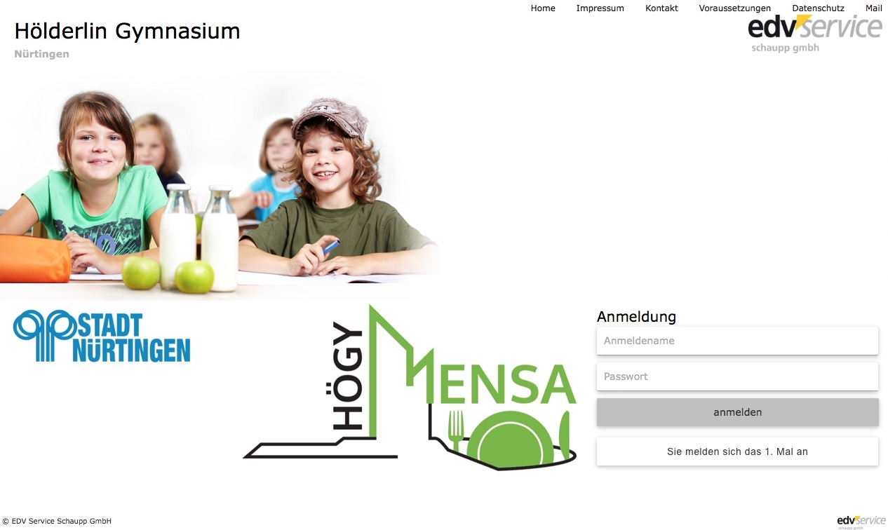 Mensa Online-Bestellsystem